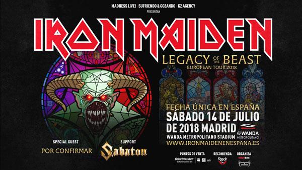 iron maiden + gojira + sabaton